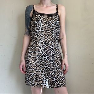 Nasty Gal Cheetah Slip Dress